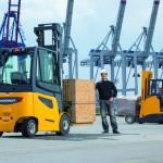 Zeecontainers laden en lossen